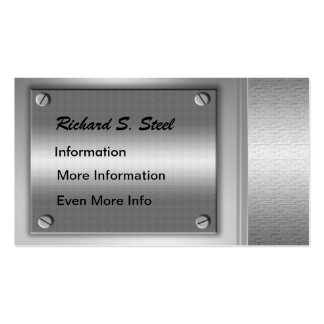 Metal Plates Business Cards