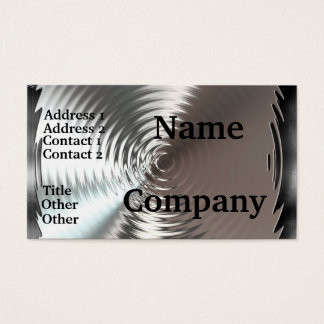 Metal Plates Circular Design Business Cards