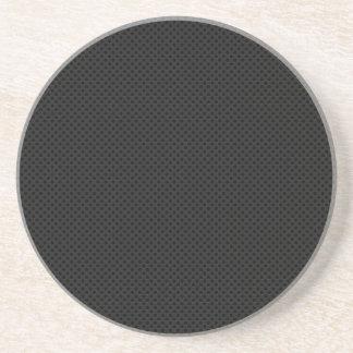 Metal poroso negro posavasos personalizados