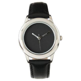 Metal poroso negro relojes de mano