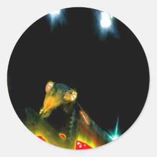 Metal Praying Mantis - 2.jpg Classic Round Sticker
