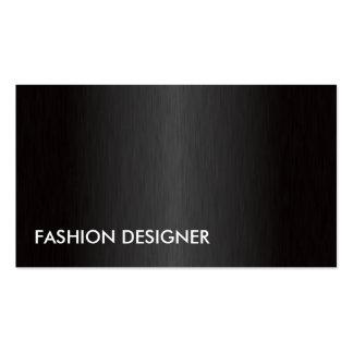 Metal profesional elegante del diseñador de moda plantilla de tarjeta de negocio