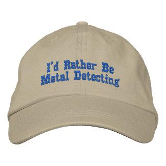 Metal que detecta el gorra gorra de béisbol