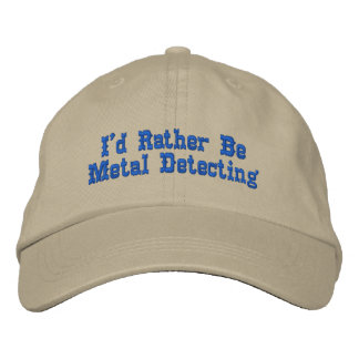 Metal que detecta el gorra gorra de béisbol bordada