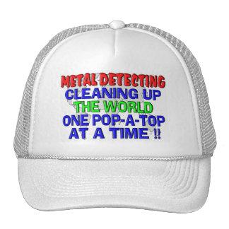 Metal que detecta limpiando el mundo (Estallido-UN Gorro De Camionero