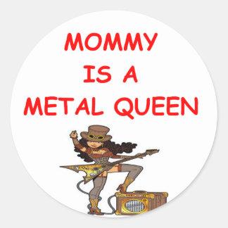 METAL queen Classic Round Sticker
