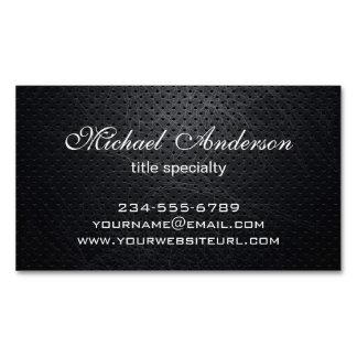 Metal rasguñado negro moderno elegante profesional tarjetas de visita magnéticas (paquete de 25)