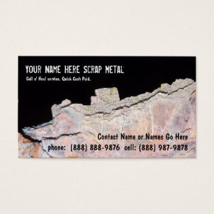 Recycle metal business cards templates zazzle metal recycler scrap rusted pipe business card reheart Gallery