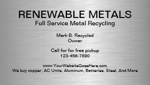 Metal recycling business cards zazzle metal recycling business cards reheart Choice Image