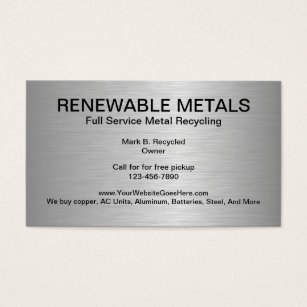 Metal recycling business cards templates zazzle metal recycling business cards reheart Gallery