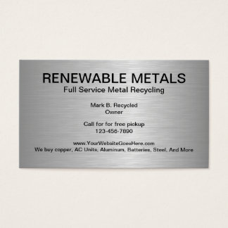 Metal recycling business cards templates zazzle metal recycling business cards reheart Choice Image