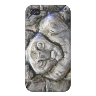 Metal Relief Wild Cat iPhone 4 Cover
