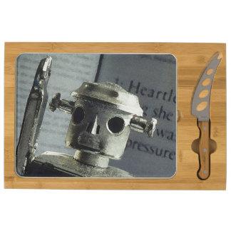Metal Robot Cheese Platter