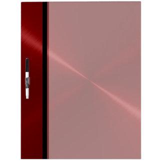 Metal rojo fresco del acero inoxidable pizarra blanca