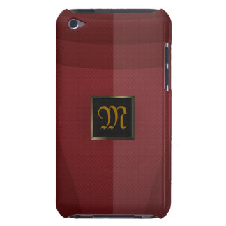 Metal rojo barely there iPod carcasa