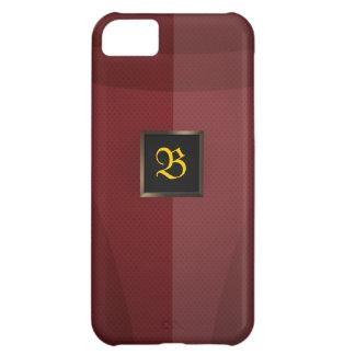 Metal rojo funda para iPhone 5C