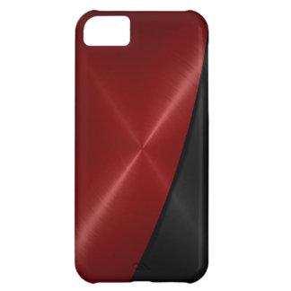 Metal rojo y negro del acero inoxidable funda para iPhone 5C