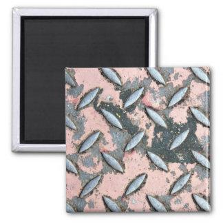 Metal rosado de la placa del diamante imán cuadrado