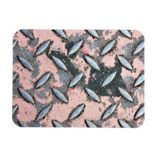 Metal rosado de la placa del diamante iman flexible