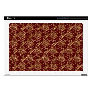 Metal Roses-04-Brick Red-17in Vinyl Laptop Skin