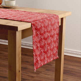 METAL ROSES 24-RED-TABLE RUNNER 14x72in