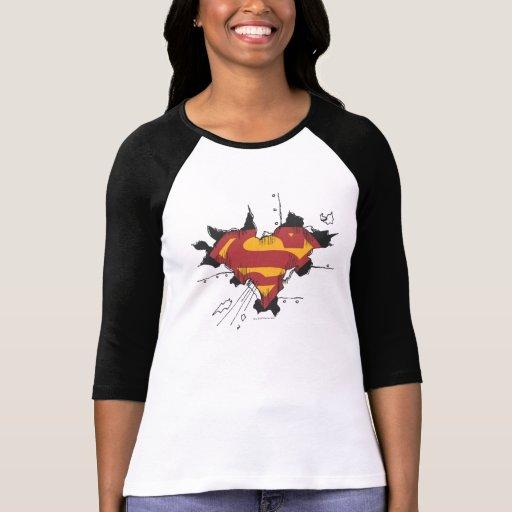 Metal roto superhombre camisetas