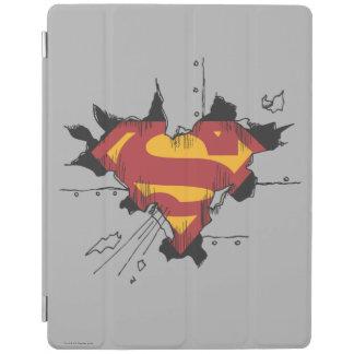 Metal roto superhombre cubierta de iPad