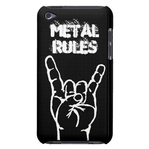 Metal Rules iTouch 4 Case - Black iPod Touch Cover