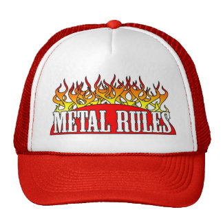 Metal Rules Red Hot Hats