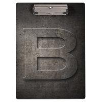 Metal Rustic B Monogram Clipboard