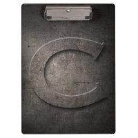 Metal Rustic C Monogram Clipboard