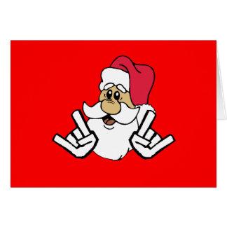 Metal Santa Christmas Card