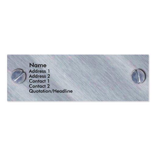 Metal Screws Profile Card Business Cards
