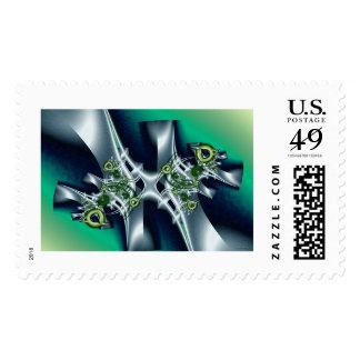 metal sculpture postage stamp
