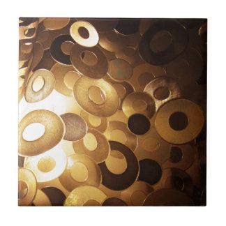 Metal  Sheet, Golden Coating Royal Elegant Style F Tile