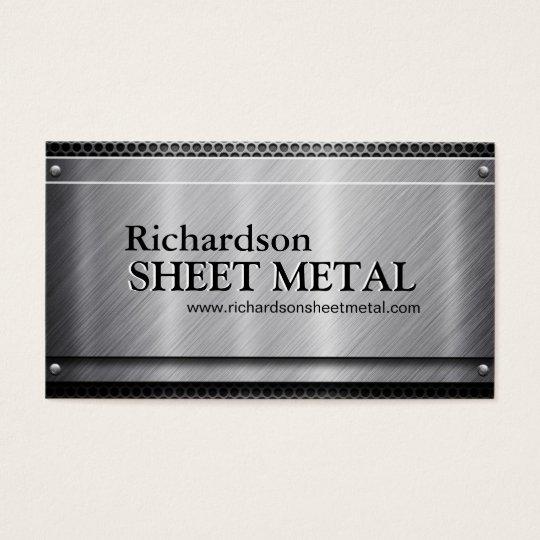 METAL SHEET WORKER BUSINESS CARD