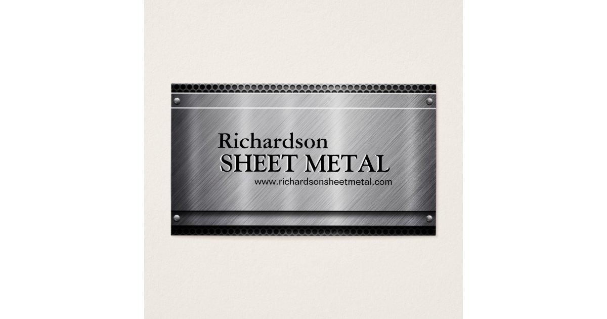 Sheet Metal Business Cards & Templates | Zazzle