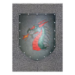 Metal Shield Dragon Chainmail Personalized Announcement