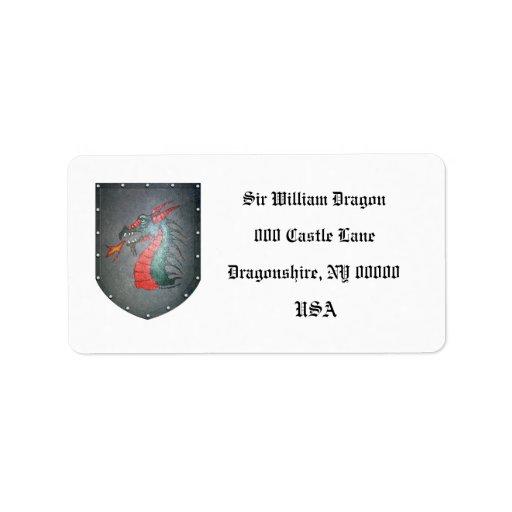 Metal Shield Dragon Labels