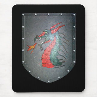 Metal Shield Dragon Mouse Pad