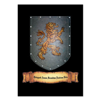 Metal Shield Lion Latin Large Business Cards (Pack Of 100)