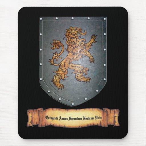 Metal Shield Lion Latin Mousepads