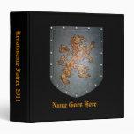 Metal Shield Medieval Lion on Black Binder
