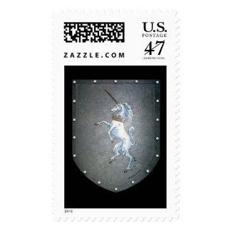 Metal Shield Mythical Unicorn Stamp