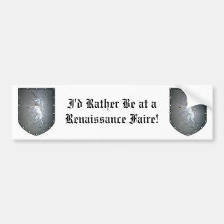 Metal Shield Unicorn Bumper Stickers