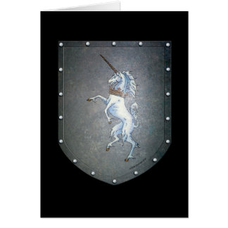 Metal Shield Unicorn Cards