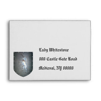 Metal Shield Unicorn Envelope