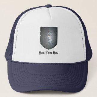 Metal Shield Unicorn Trucker Hat