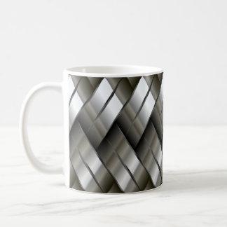 Metal Silver Pattern Classic White Coffee Mug