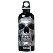Metal Skull Aluminum Water Bottle